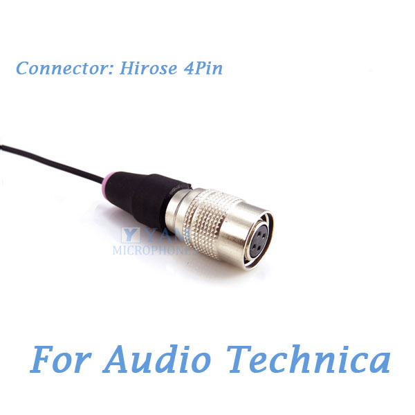 Onnidirectional Condenser Mic Pro Lavalier Lapel Microphone LM2-C4AT For Audio Technica Wireless Transmitter